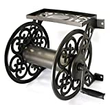 4. Liberty Garden Steel Decorative Wall Mount Garden Hose Reel