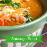 Sausage Soup with Peppers and Spinach Recipe