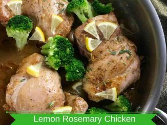 One Skillet Lemon Rosemary Chicken Thighs with Broccoli
