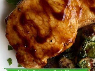 Maple-Balsamic Boneless Pork Chops Recipes