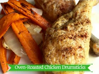 Oven-Roasted Chicken Drumsticks Recipes with Roasted Root Vegetables