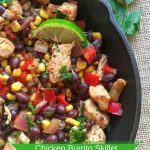 Mexican Chicken Burrito Skillet Recipe With Black Beans