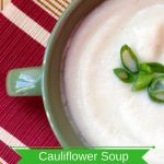 Healthy Cauliflower Soup Recipe With Goat Cheese
