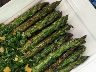 Grilled Marinated Asparagus Recipe with Gremolata