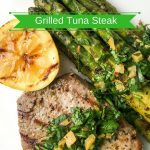 Grilled Tuna Steaks Recipe with Preserved Lemon Gremolata