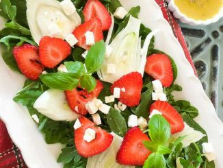 Fennel Strawberry Salad Recipe with Homemade Vinaigrette