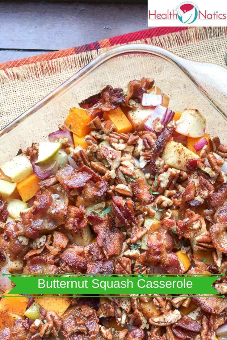Apple Butternut Squash Casserole with Bacon-Pecan Topping Recipe